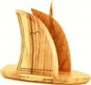 Olive Wood Boat Napkin/Letter Holder