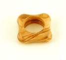 Olive Wood Square Napkin Ring
