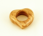 Olive Wood Heart Shaped Napkin Ring
