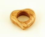Olive Wood Heart Shaped Napkin Ring