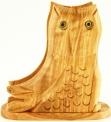 Olive Wood Owl Napkin/Letter Holder