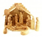 Olive Wood Deluxe Nativity Set