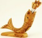 Olive Wood Fish Pick Holder