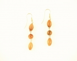 Olivewood Round & Oval Earrings